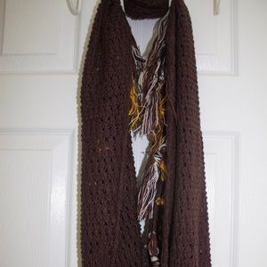 Urban outfitters knit/fringe scarf
